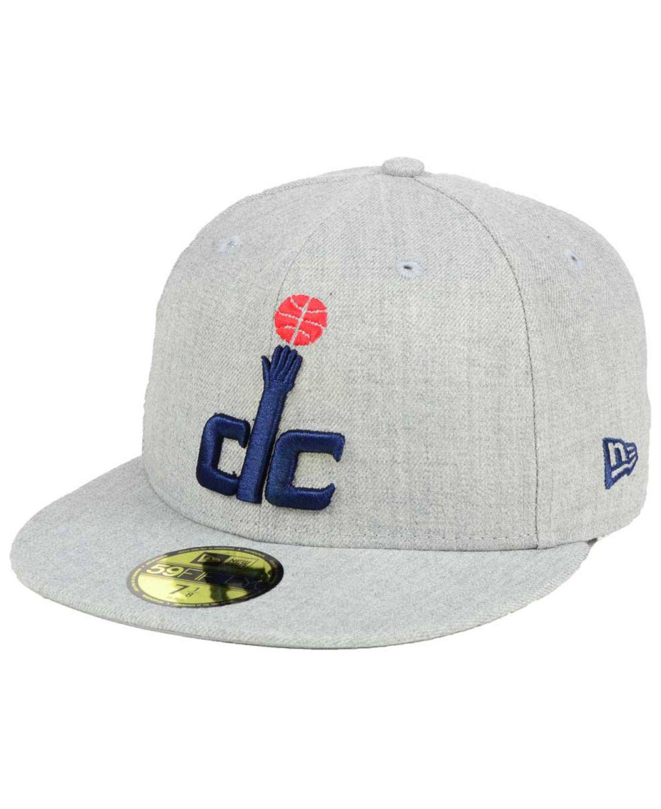 official photos cb108 03268 ... navy 2018 nba playoffs 9twenty adjustable hat 3d6a6 7311b  italy lyst  ktz washington wizards all heather 59fifty cap in gray for men 56326 c3f78