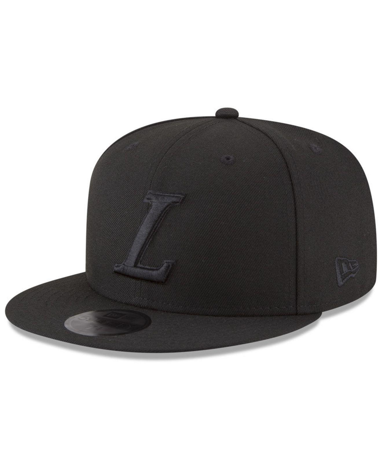 designer fashion 524cb 090fc ... new era nba jersey hook 9fifty snapback cap 0550e 050b3  coupon code  for lyst ktz los angeles lakers alpha triple black 59fifty fitted cap 370ae  a0715