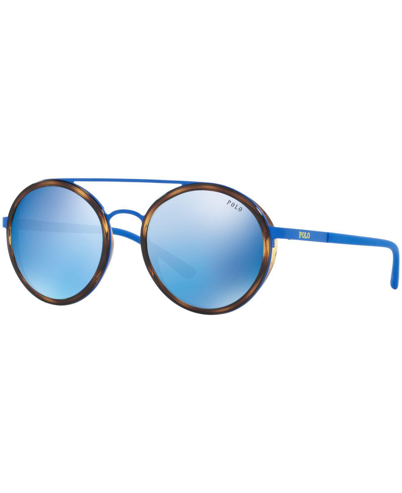 aacab37e9a Polo Ralph Lauren. Women s Blue Sunglasses ...