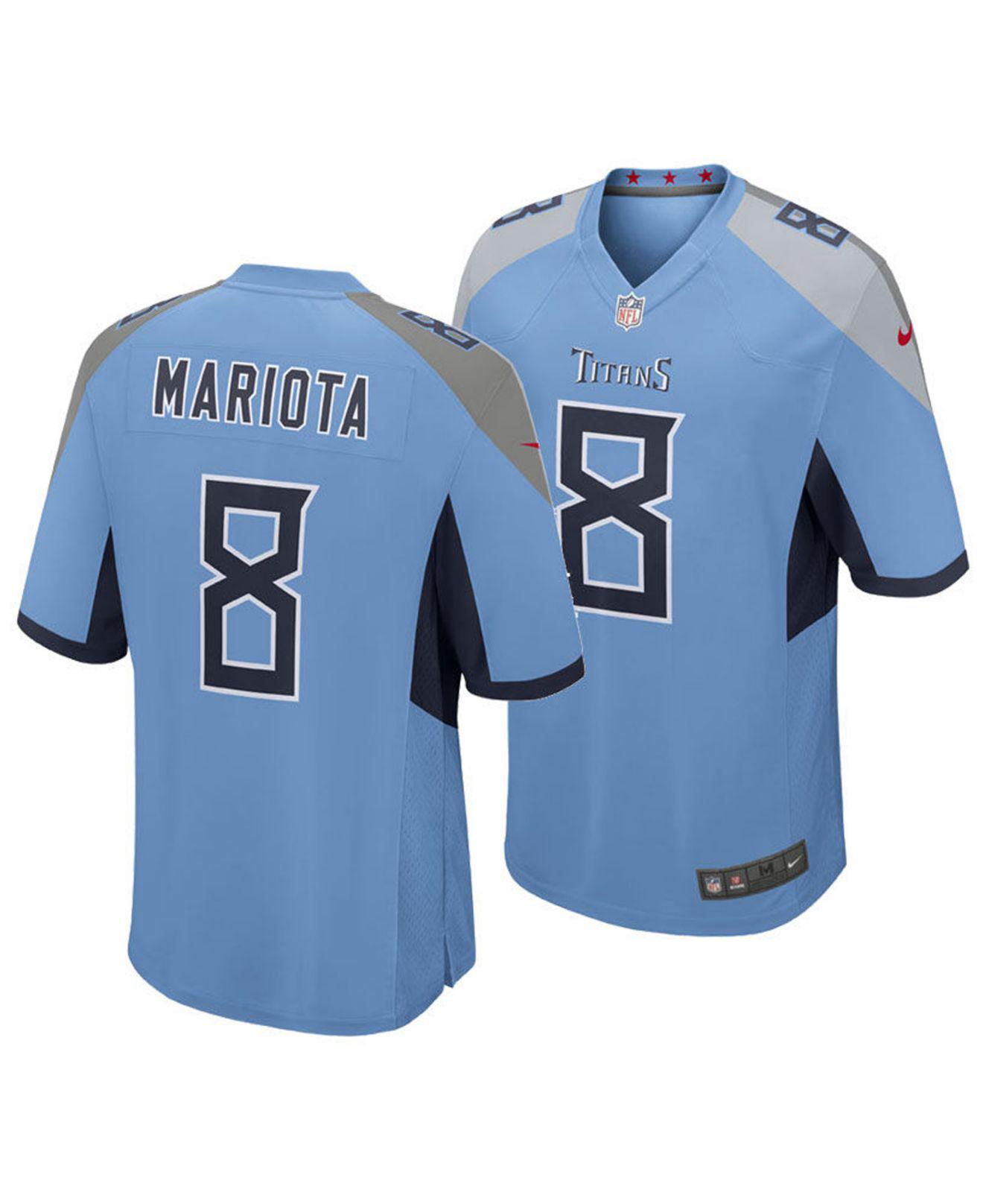 Lyst - Nike Marcus Mariota Tennessee Titans Game Jersey in Blue for Men 11ac4e699