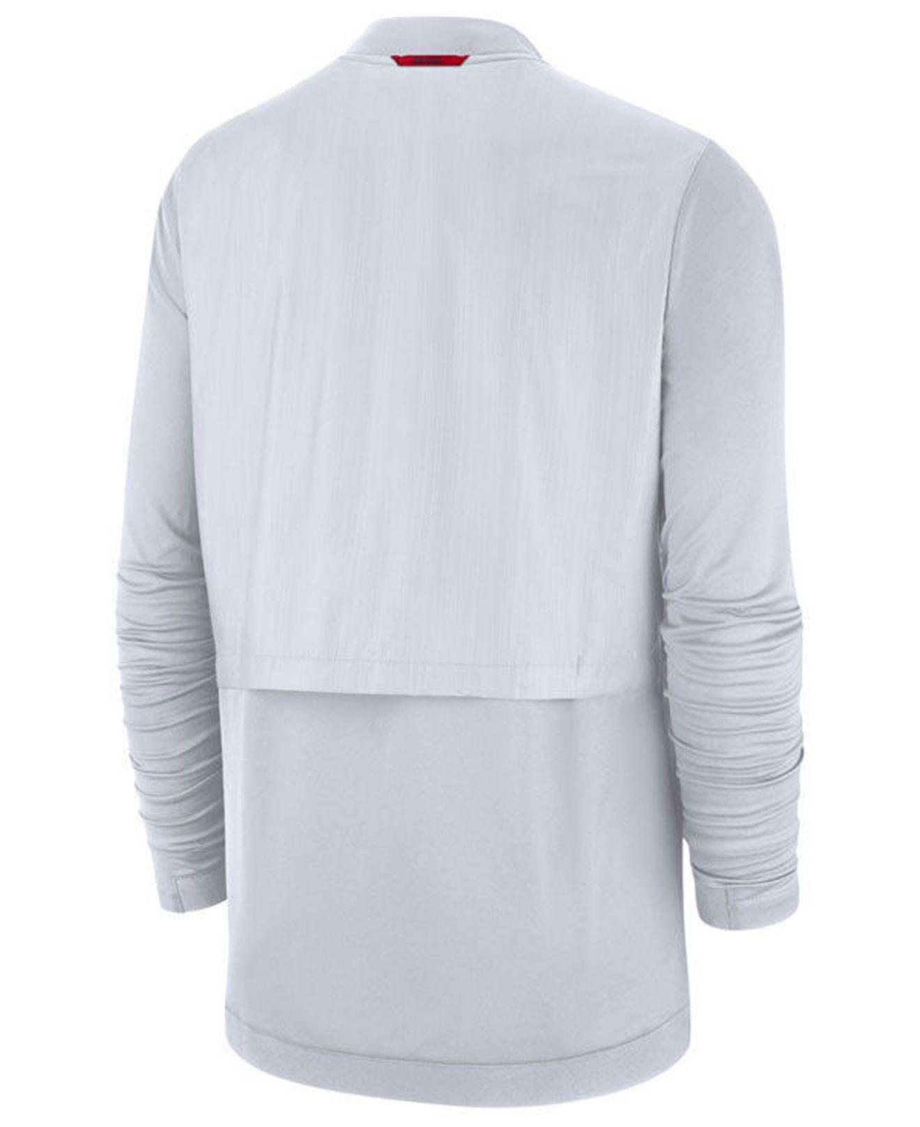 90fe9a338c15 Lyst - Nike Ohio State Buckeyes Elite Hybrid Full-zip Jacket in White for  Men