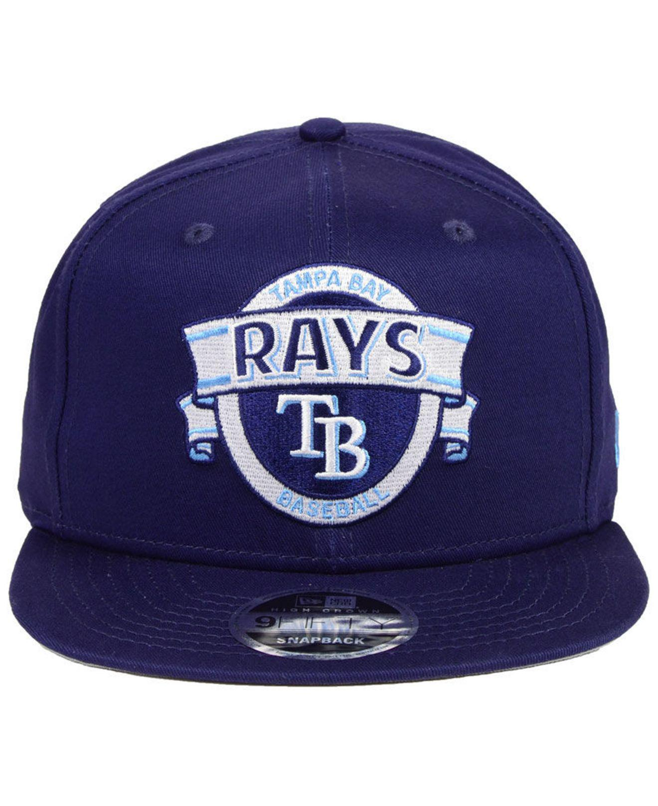 5dc9a78cc8f Lyst - KTZ Tampa Bay Rays Banner 9fifty Snapback Cap in Blue for Men