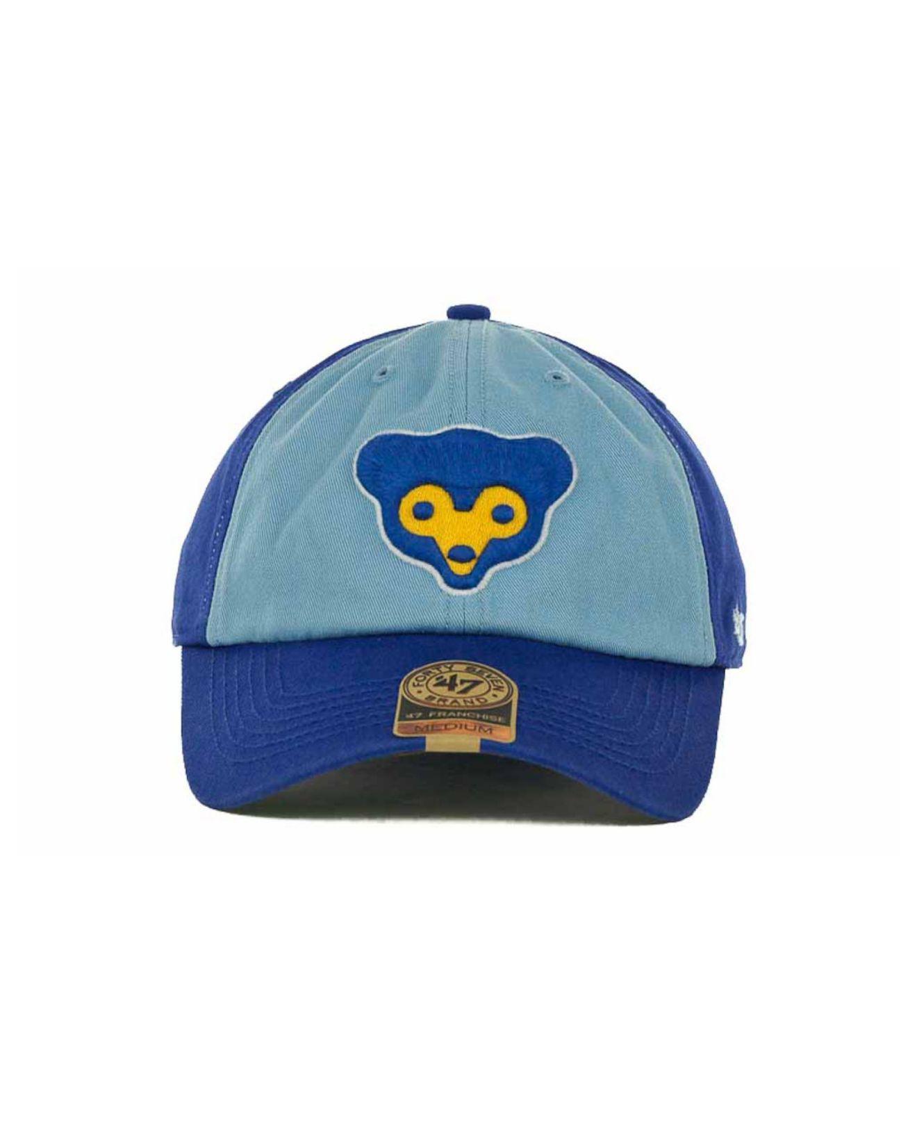 buy popular 87075 962fe ... coupon code for lyst 47 brand chicago cubs mlb 47 franchise cap in  green for men