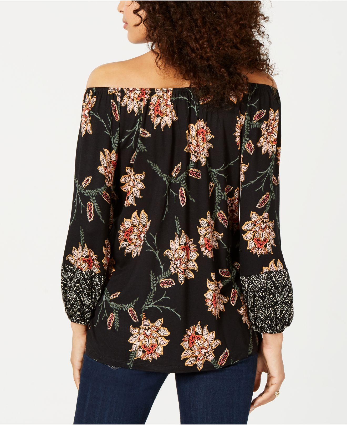 36db3d177e2 Lyst - Style & Co. Printed Off-the-shoulder Top, Created For Macy's in Black