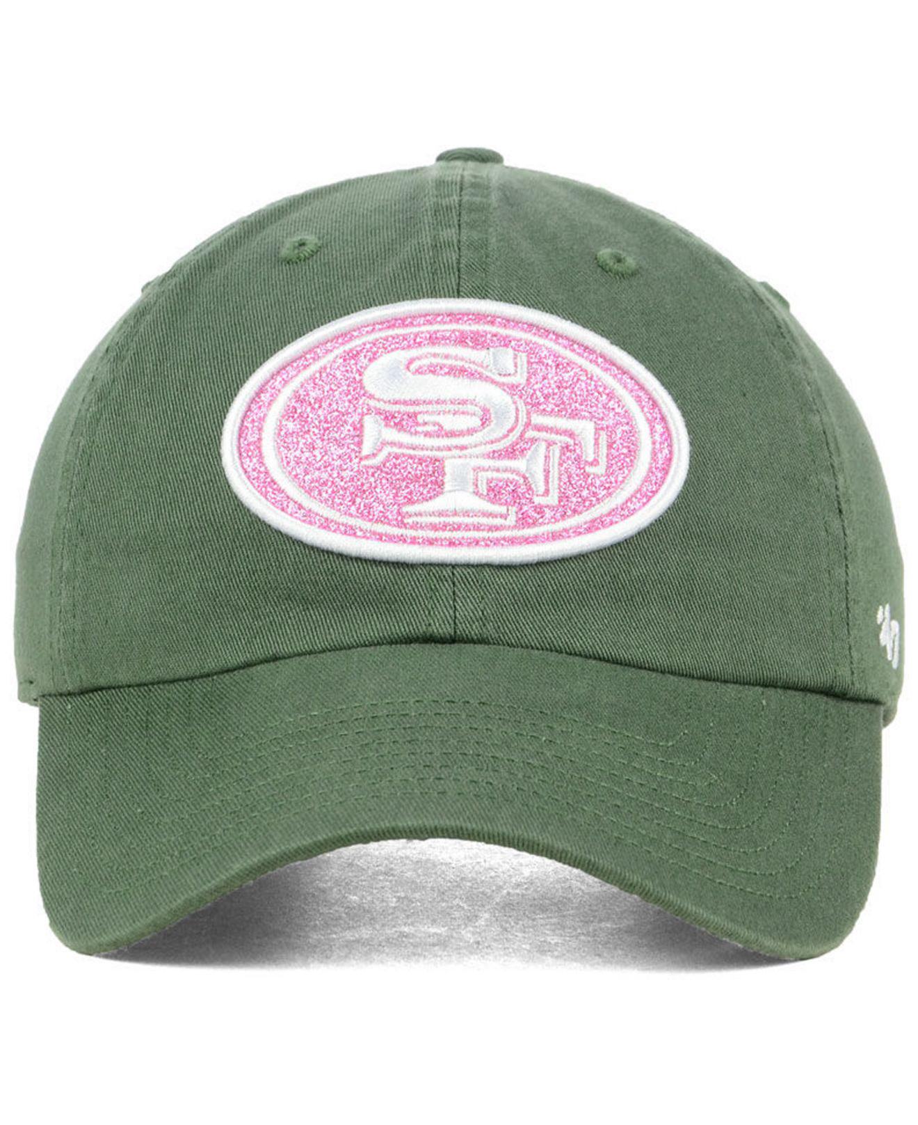 more photos c9caa 5bdbe ... low price lyst 47 brand san francisco 49ers moss glitta clean up cap in  green b616f