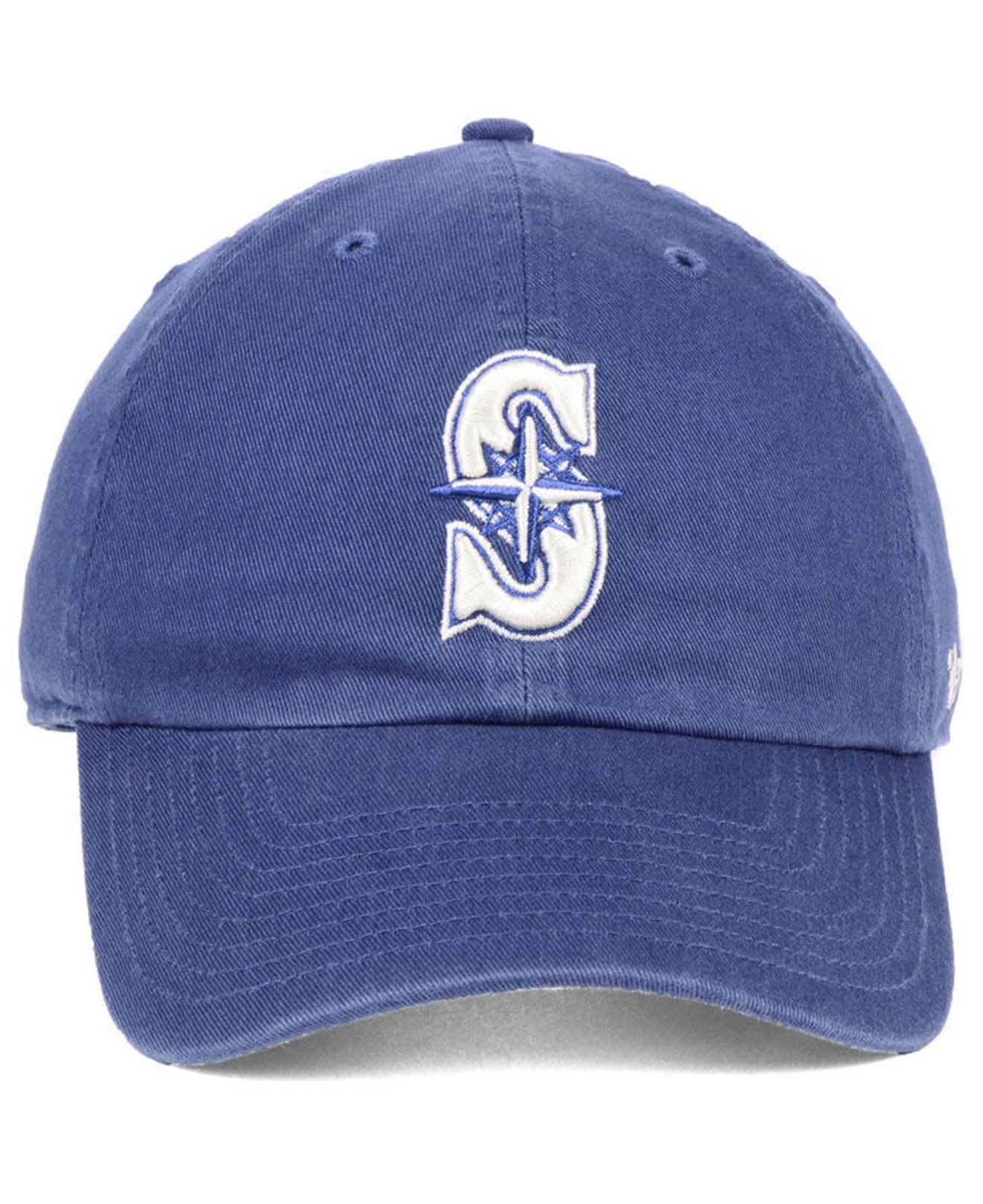 check out 196ab dff09 Lyst - 47 Brand Seattle Mariners Timber Blue Clean Up Strapback Cap in Blue  for Men
