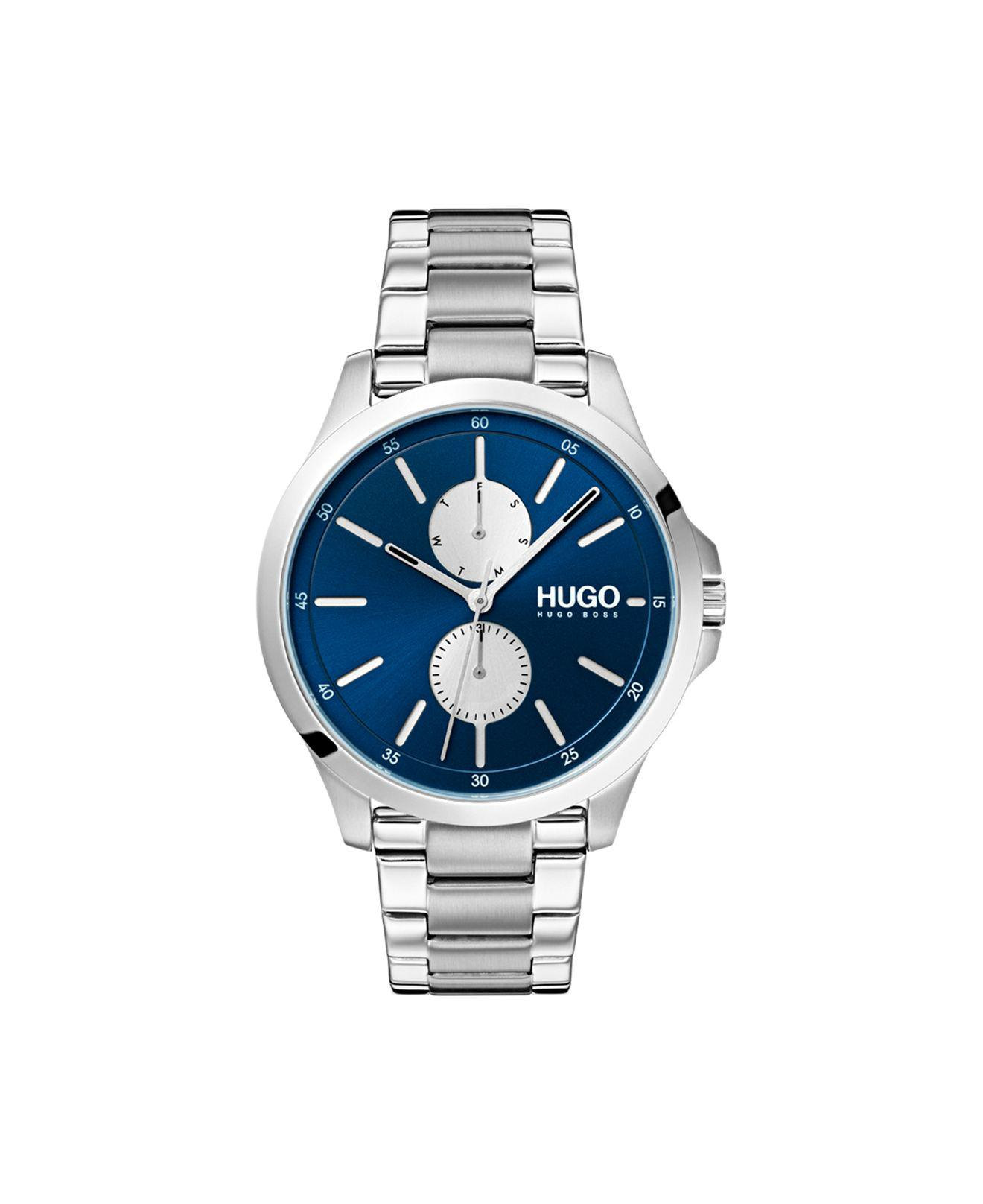 38e8c8ff8 Lyst - BOSS #jump Stainless Steel Bracelet Watch 41mm in Blue for Men