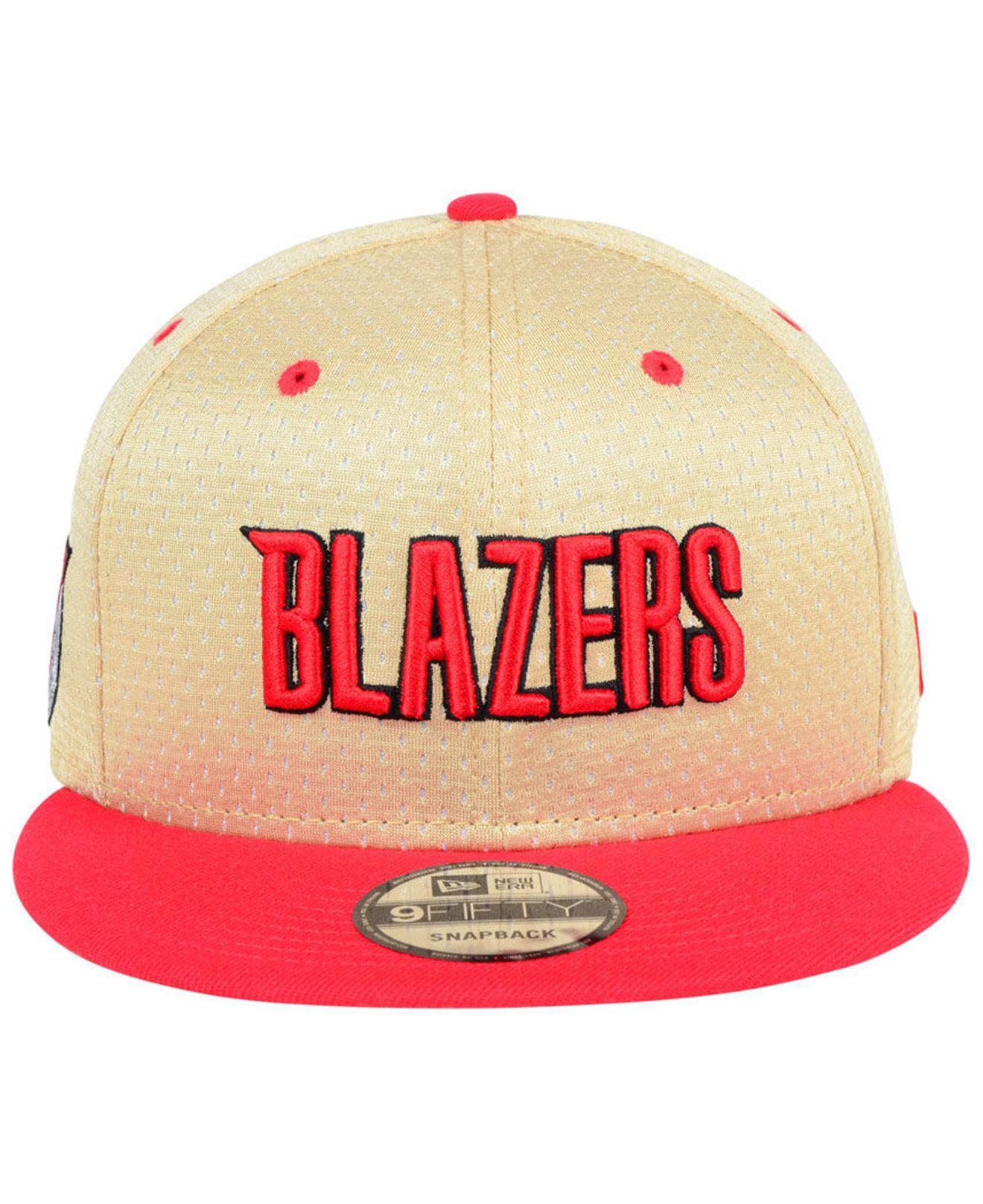 half off 92766 7950b ... greece lyst ktz portland trail blazers champagne 9fifty snapback cap in  red for men 9d840 6a503