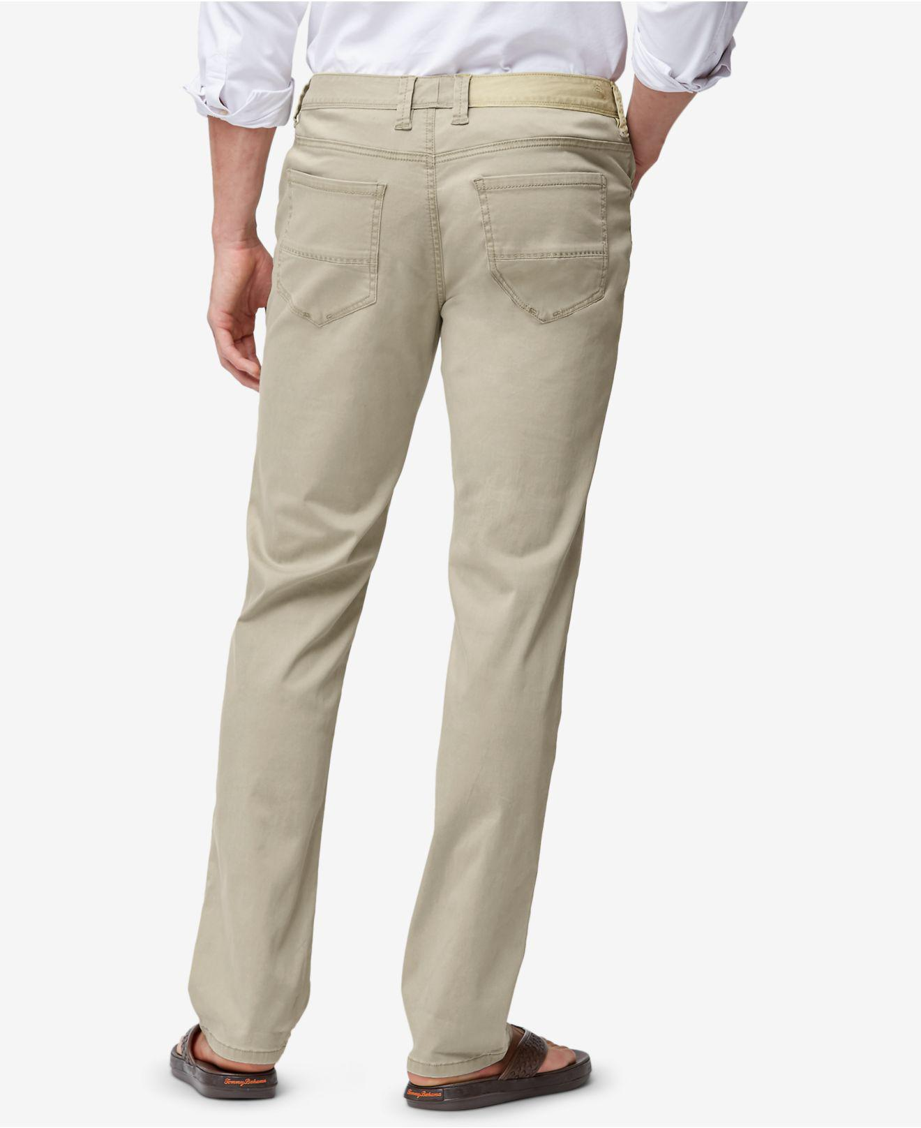 Tommy Bahama Men/'s Chino Beige Montana Vintage Cargo Pants $125