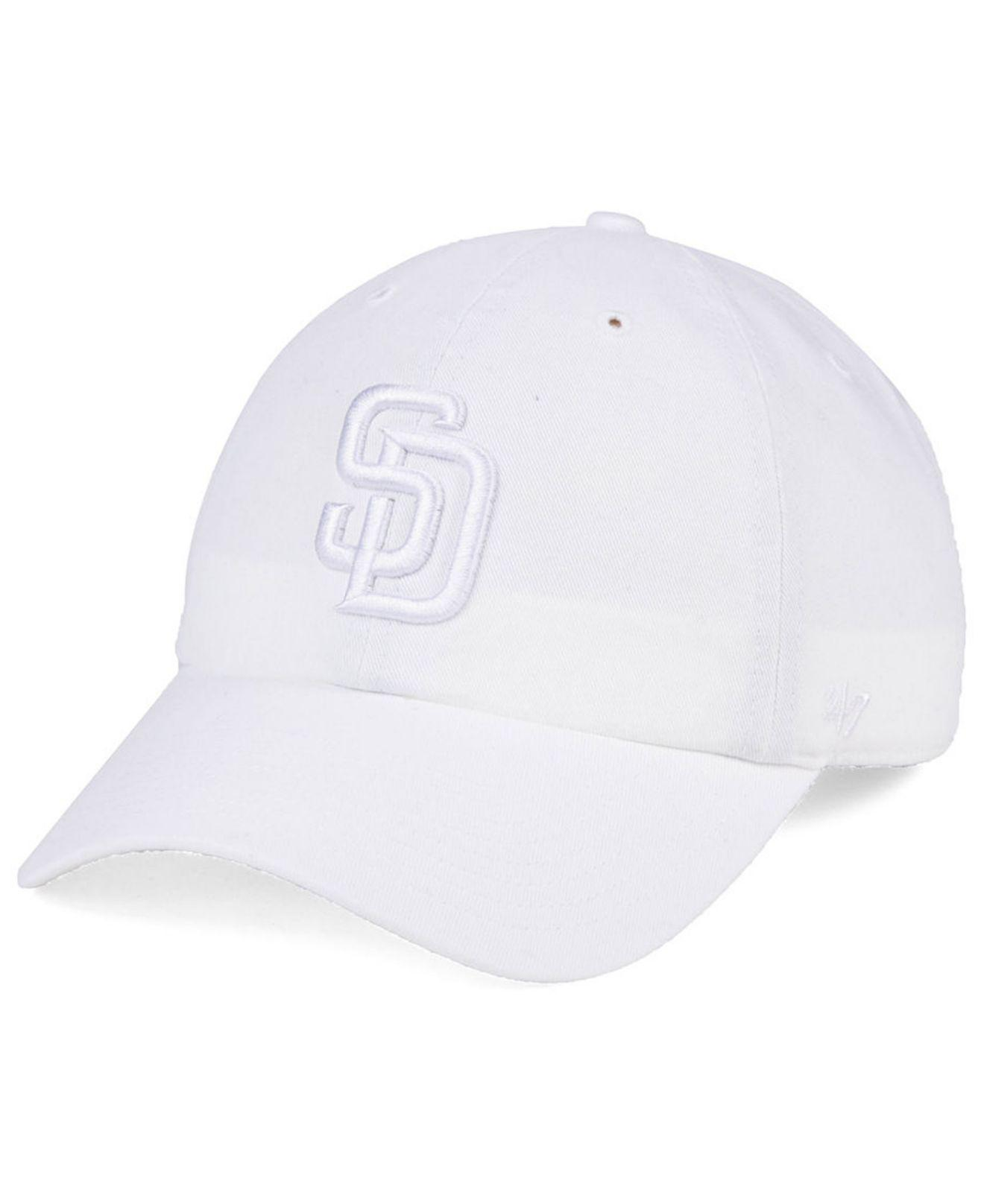 12a63a98e3b6c Lyst - 47 Brand San Diego Padres White white Clean Up Cap in White ...
