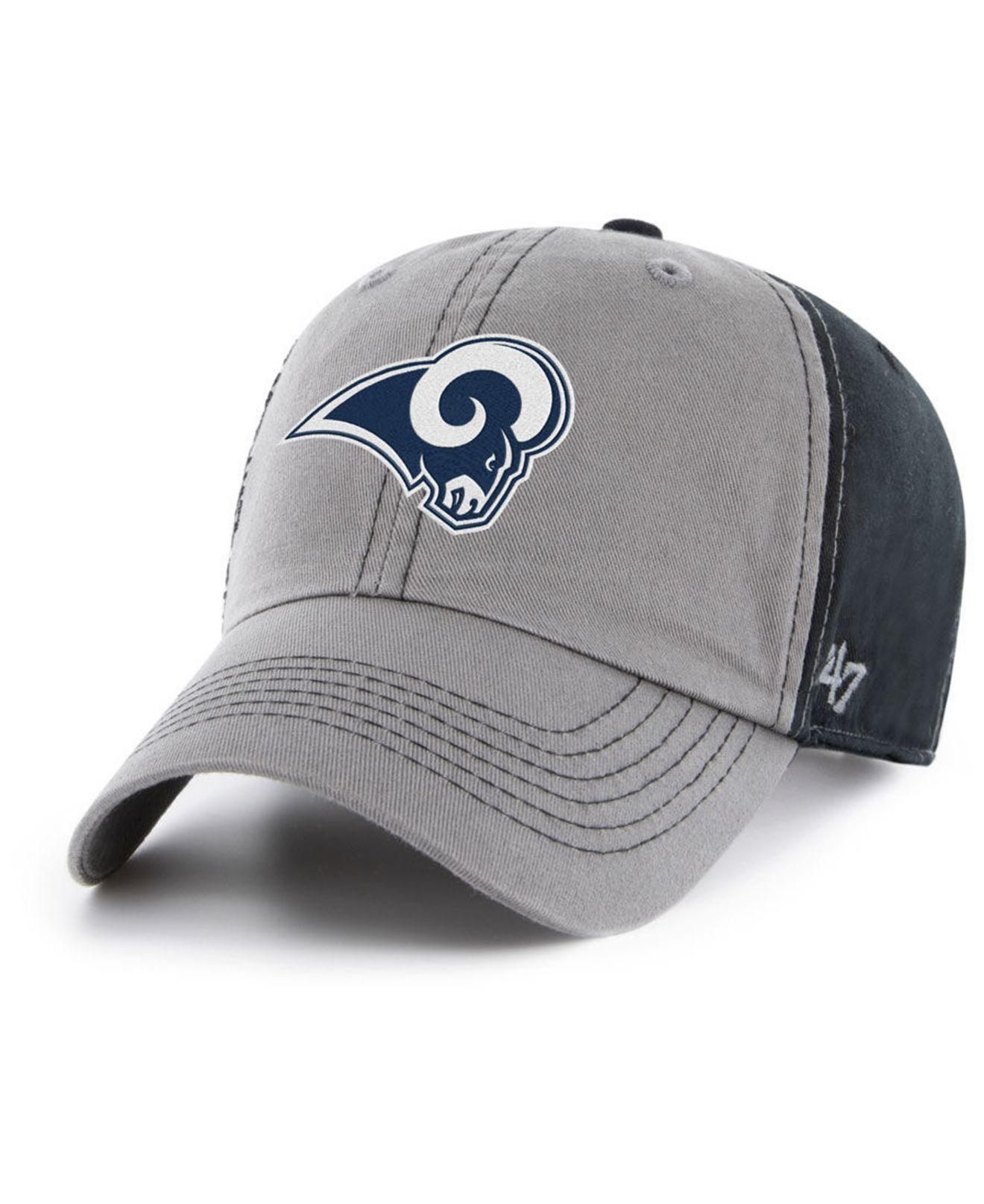 aab19c8f1 Lyst - 47 Brand Los Angeles Rams Super Bowl Liii Climb Clean Up Strapback  Cap in Gray for Men