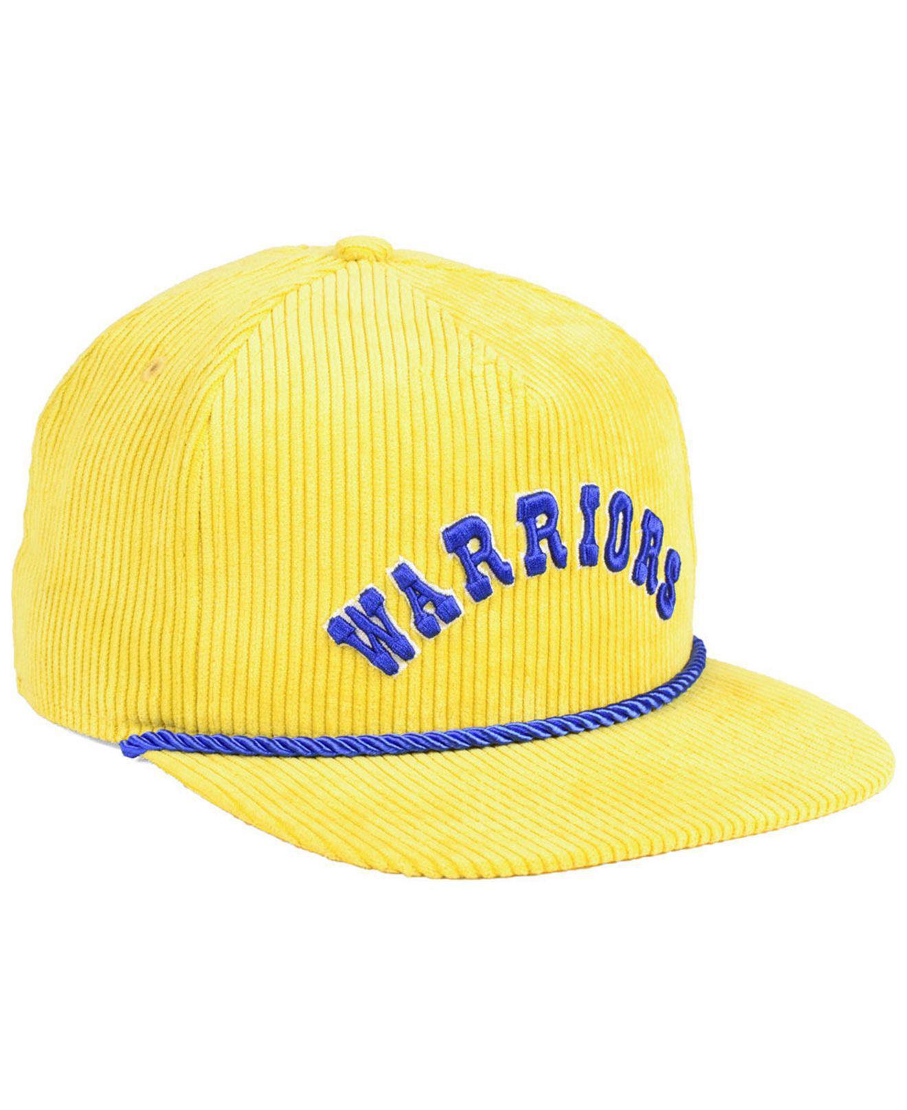 KTZ - Yellow Golden State Warriors Hardwood Classic Nights Cords 9fifty  Snapback Cap for Men -. View fullscreen dd1a8ce65