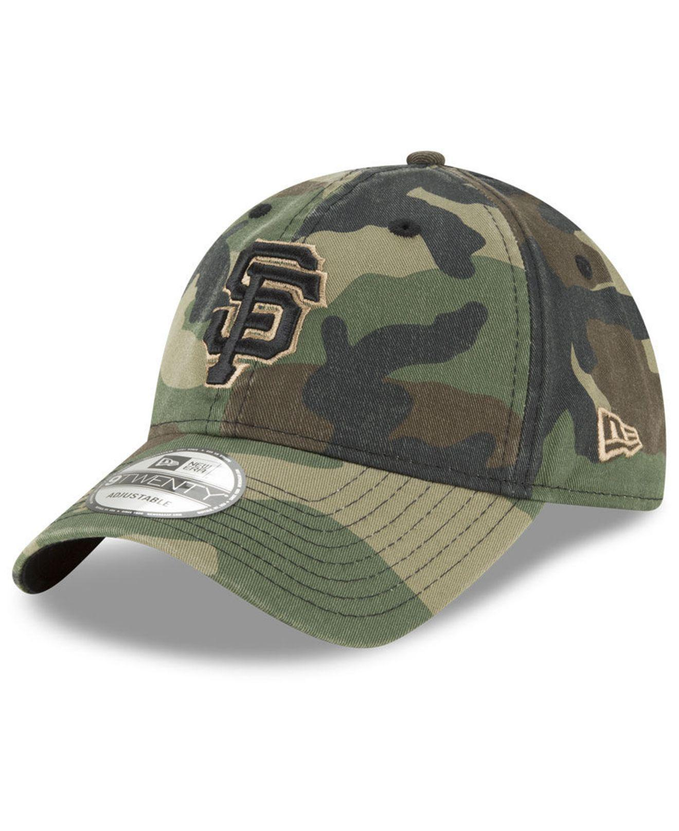 bc87ced4 KTZ San Francisco Giants Camo Core Classic 9twenty Cap in Green for ...