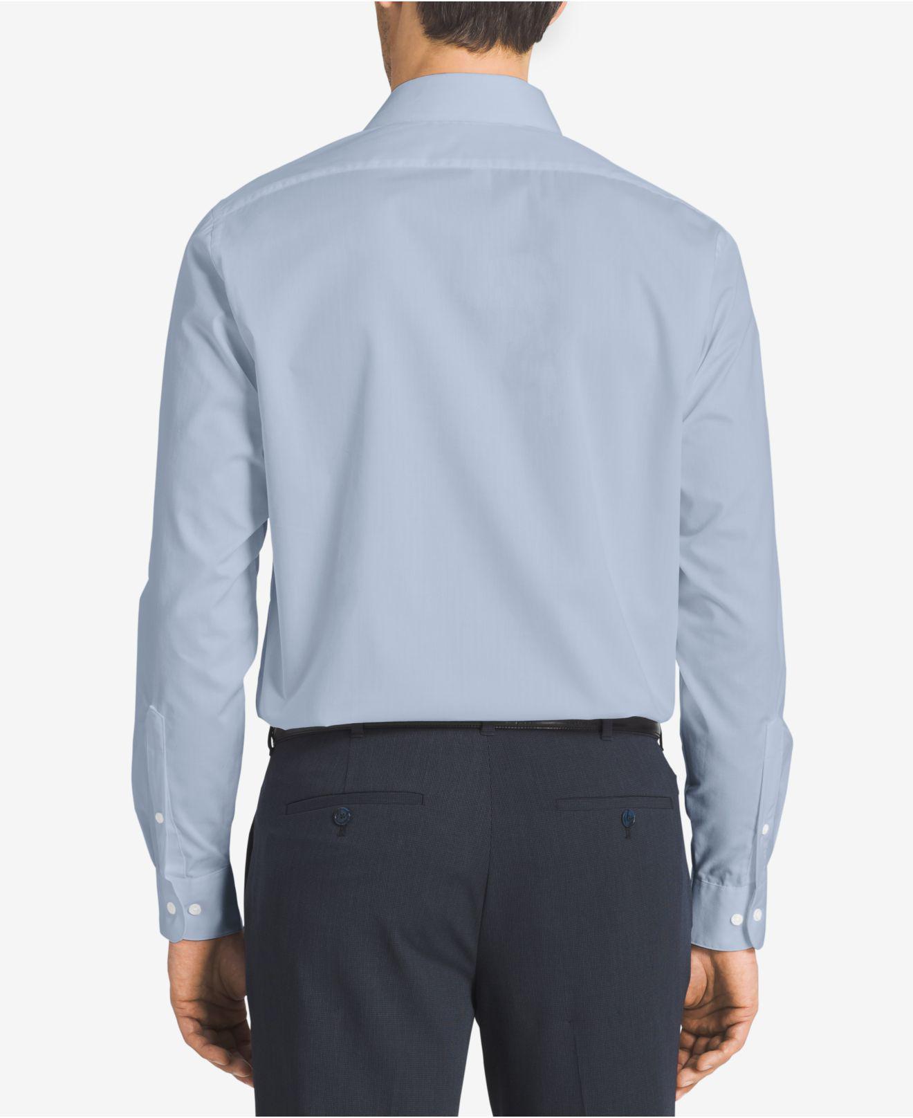 8a0432de140a Van Heusen - Blue Big And Tall Solid Herringbone Dress Shirt for Men -  Lyst. View fullscreen