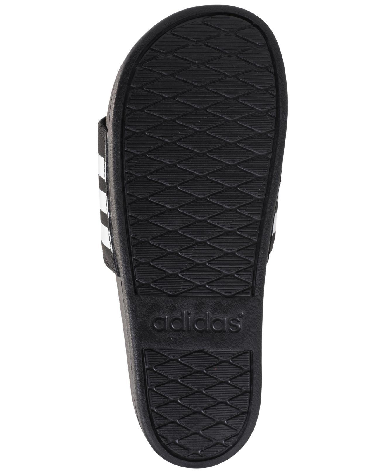 save off 3cc8f e35e0 Adidas - Adilette Cloudfoam Ultra Stripes (black white black) Women s Slide  Shoes. View fullscreen