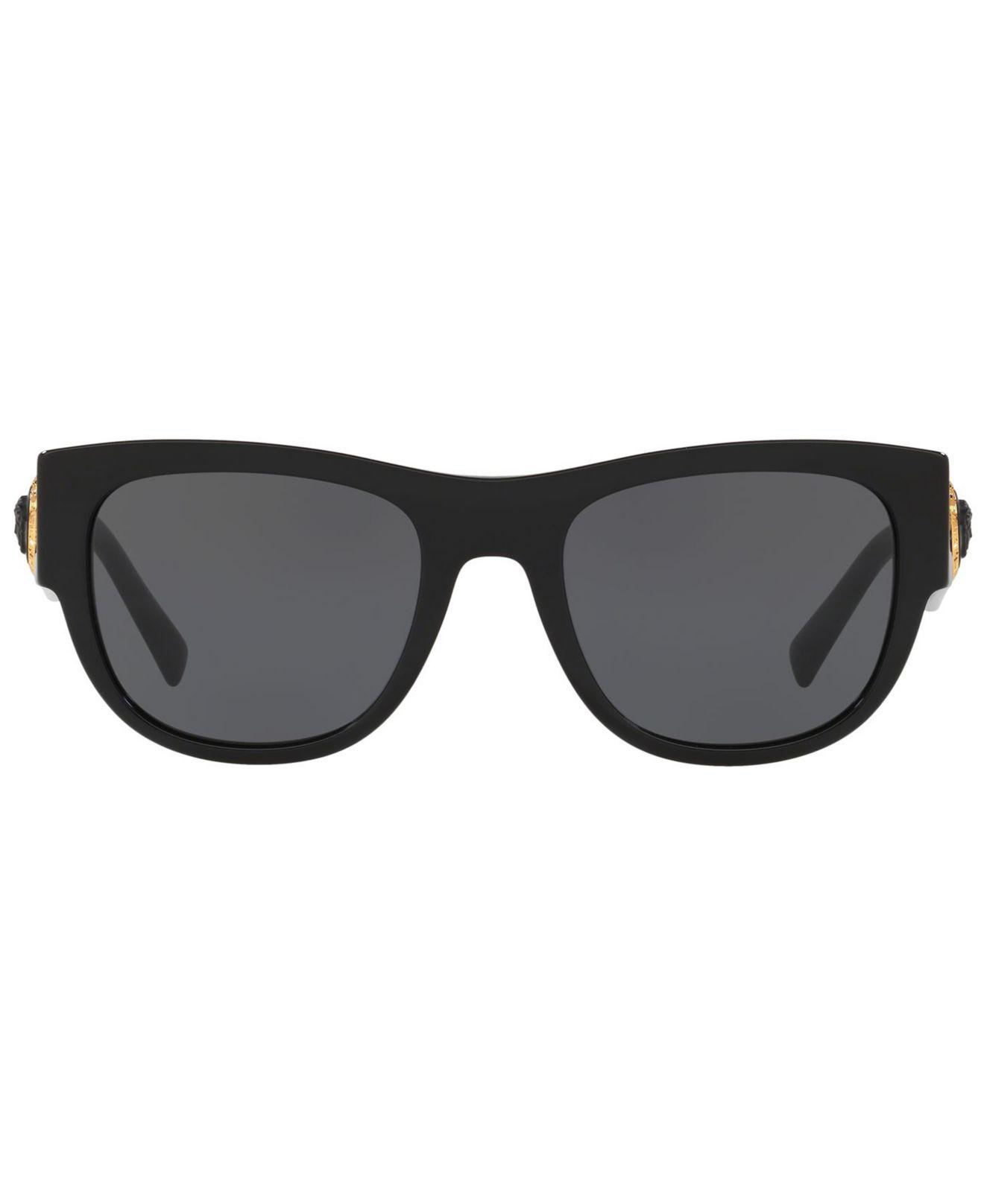 e3156c8000 Lyst - Versace 4359 Rectangle Sunglasses in Black for Men - Save 13%