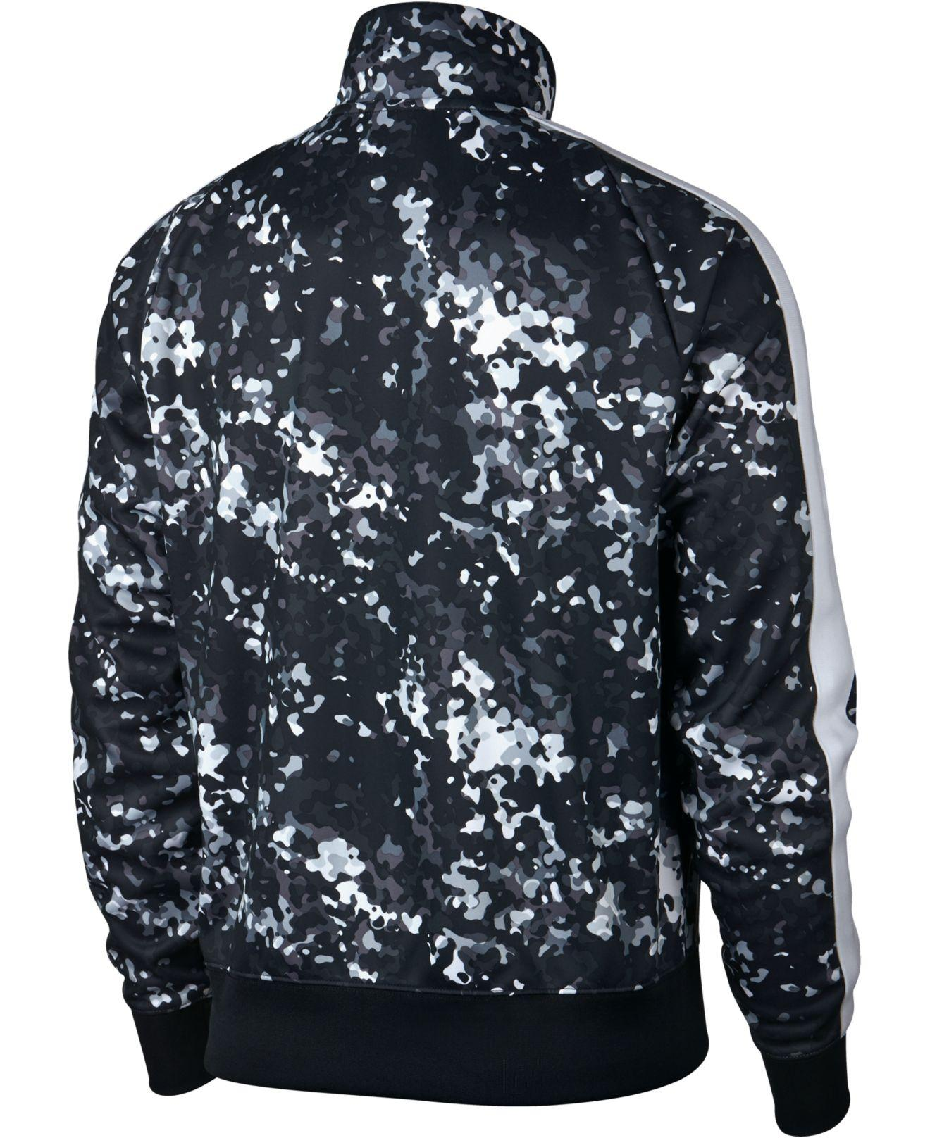 Lyst - Nike Sportswear Printed Track Jacket in Black for Men 28b2bafd7