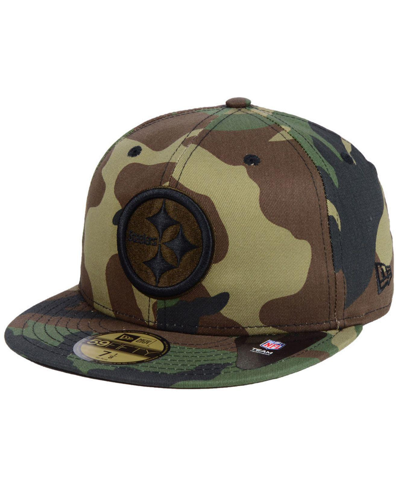 b0fa49ea Lyst - KTZ Pittsburgh Steelers Woodland Prism Pack 59fifty-fitted ...