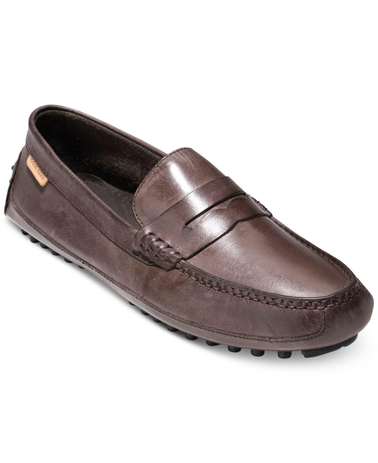 b45db43a375 Lyst - Cole Haan Men s Coburn Penny Drivers Ii in Brown for Men