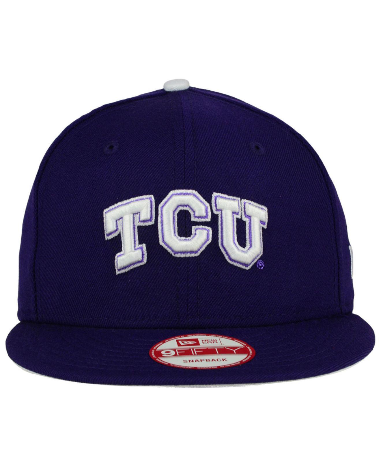 low priced 1d787 3e39b Lyst - KTZ Tcu Horned Frogs Core 9fifty Snapback Cap in Purple for Men