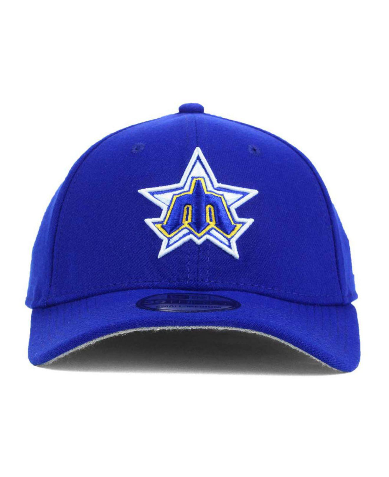 official photos 745aa f28e8 Lyst - KTZ Seattle Mariners Core Classic 39thirty Cap in Blue for Men