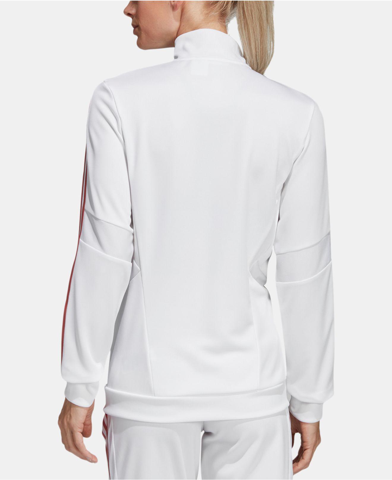 910ec09b0 adidas Pearl Essence Tiro Track Jacket in White - Lyst