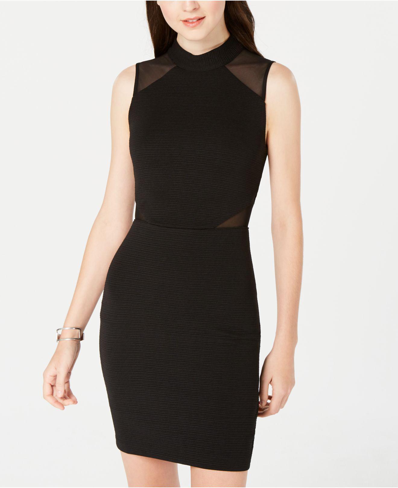 fda5b78d Emerald Sundae Juniors' Illusion Bodycon Dress in Black - Lyst