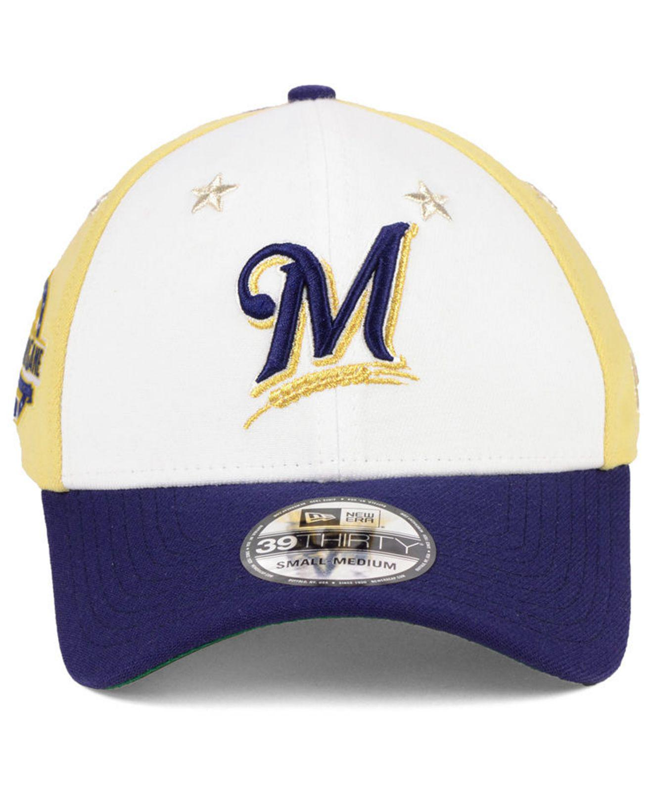 cae7b53aeb2 Lyst - KTZ Milwaukee Brewers All Star Game 39thirty Stretch Fitted Cap 2018  in Blue for Men