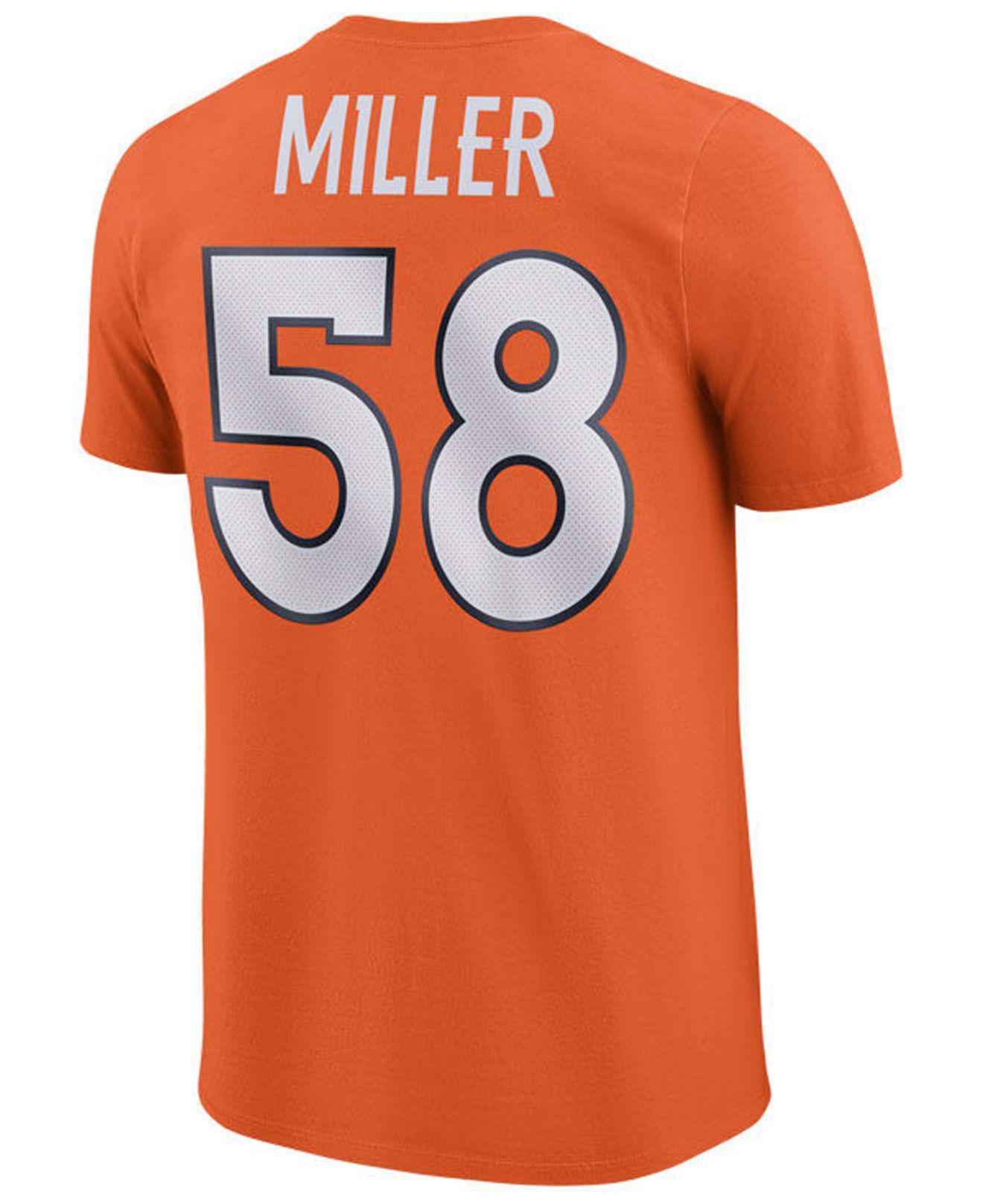 dc610810 Nike Von Miller Denver Broncos Pride Name And Number Wordmark T ...