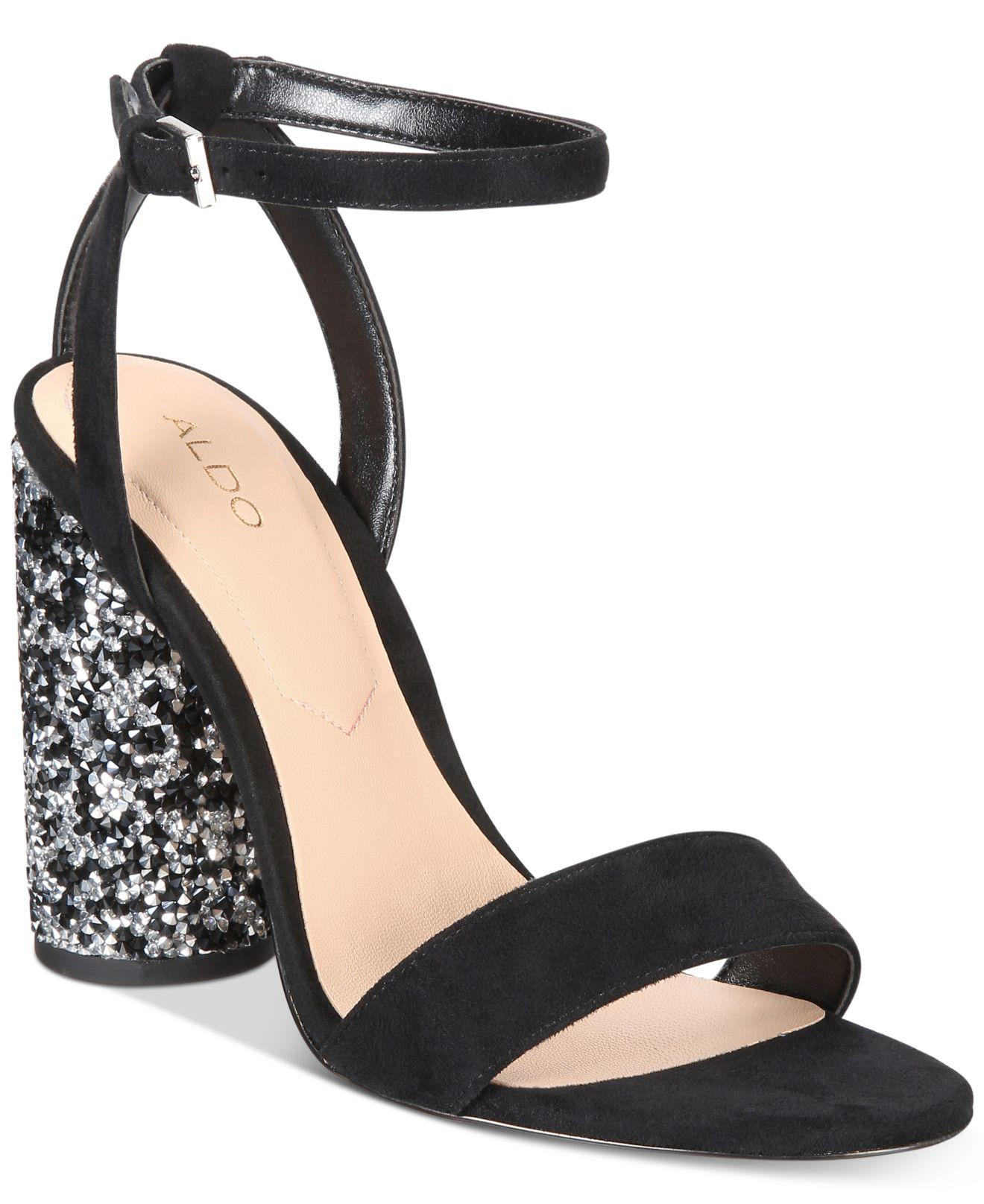 d240b5e8f18 Lyst - ALDO Rossena Cylinder-heel Dress Sandals in Black