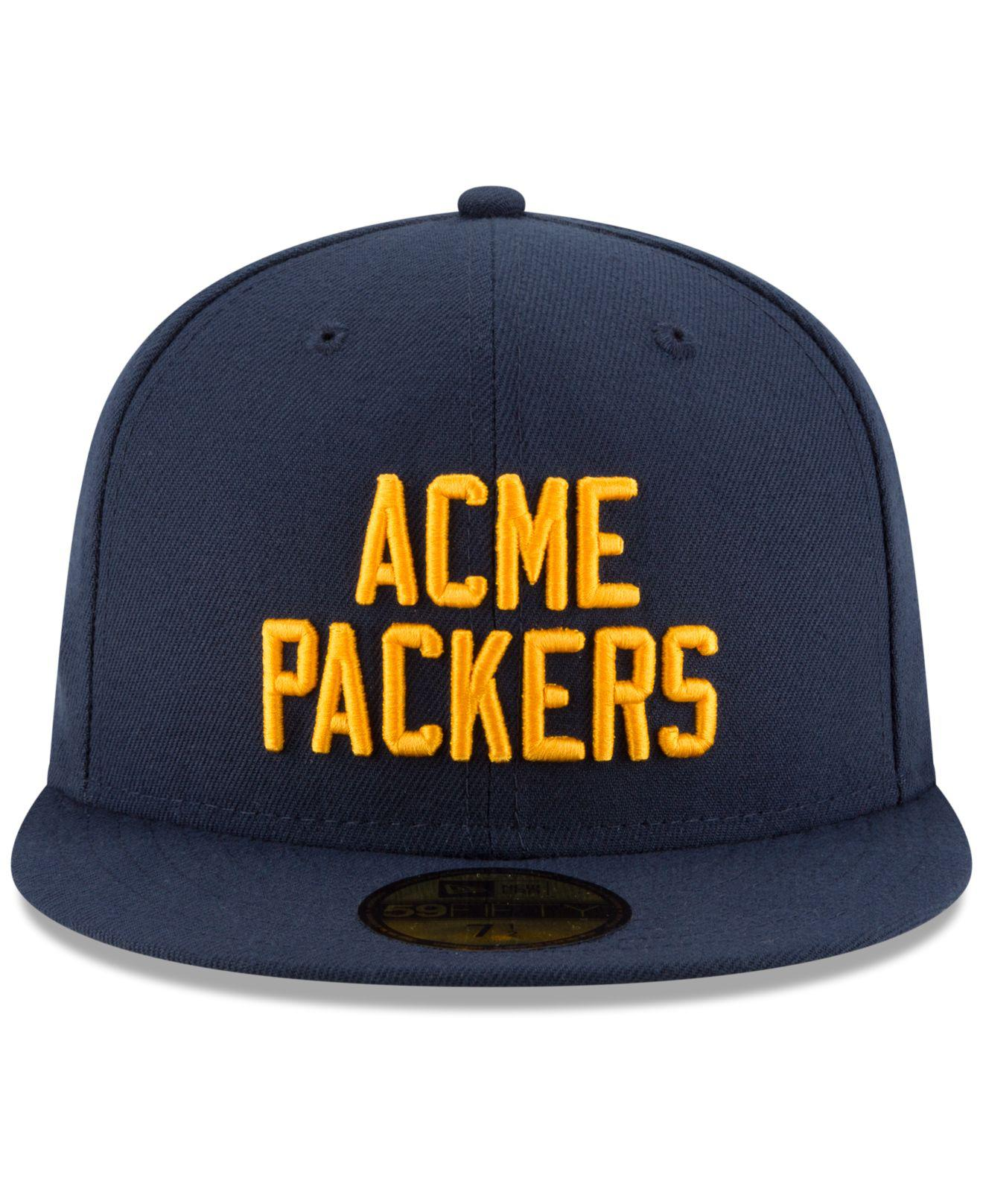 ... shopping lyst ktz green bay packers team basic 59fifty fitted cap in  blue for men 9f9dc a57ca3b9c