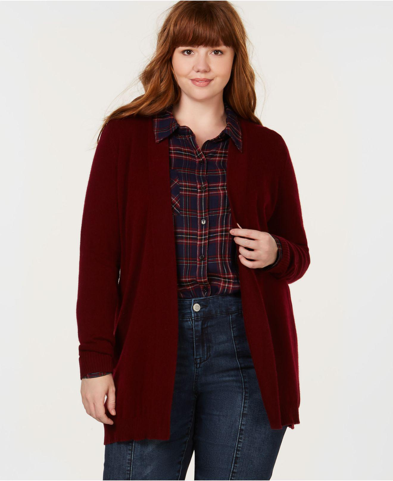 Lyst Charter Club Plus Size Cashmere Cardigan Sweater Created For