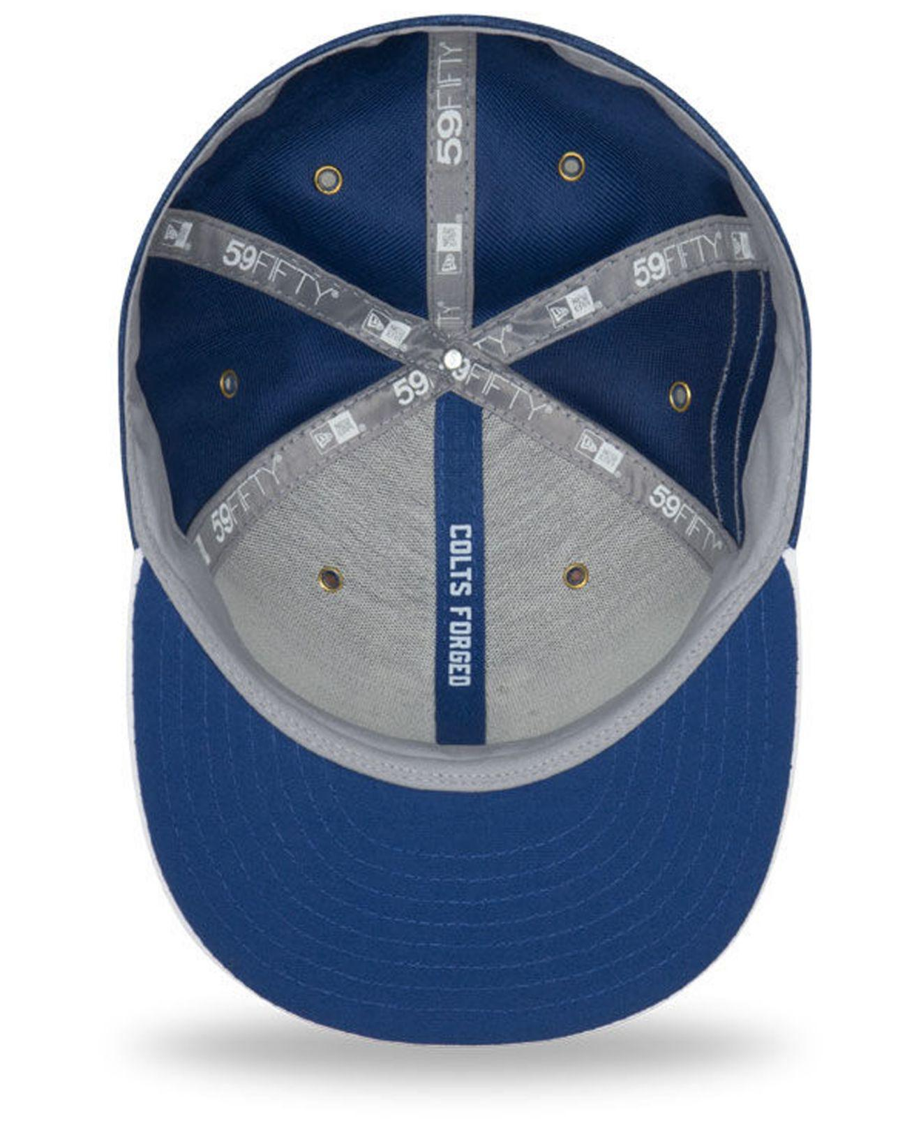 a3336da53b4 KTZ - Blue Indianapolis Colts On Field Sideline Home 59fifty Fitted Cap for  Men - Lyst. View fullscreen