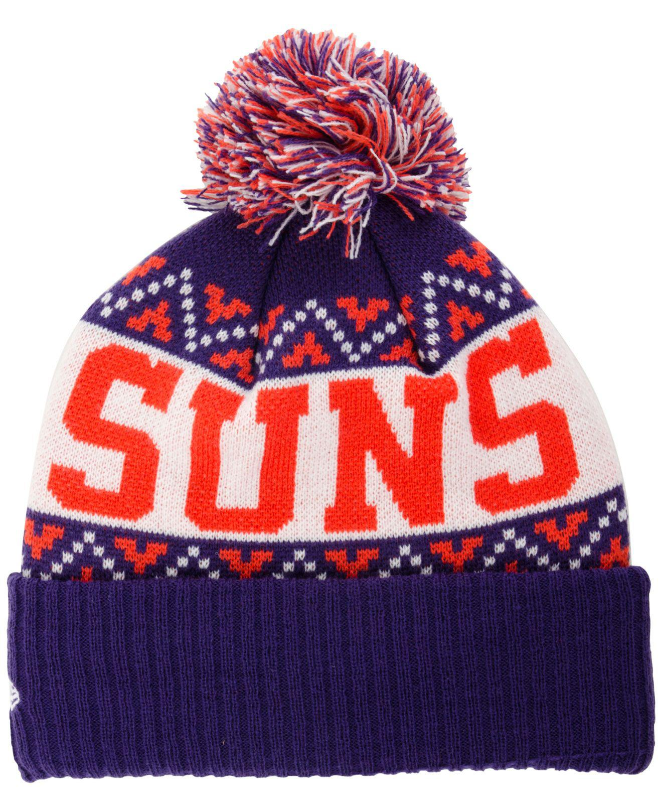 61ca45d44987e5 ... new zealand lyst ktz phoenix suns biggest christmas knit hat in purple  for men 8bad9 0b234