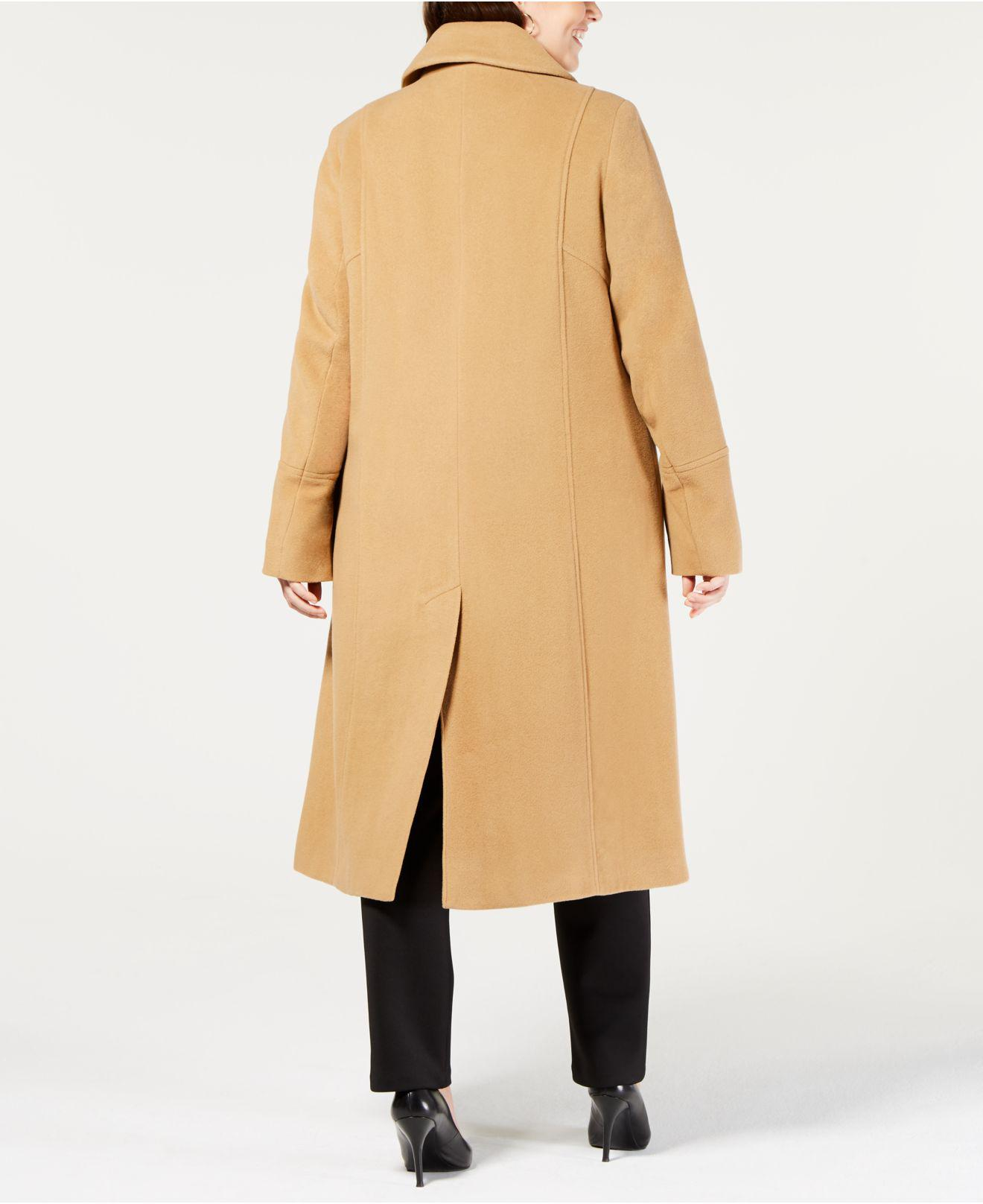 841b1c52b34 Lyst - Anne Klein Plus Size Single-breasted Coat in Natural
