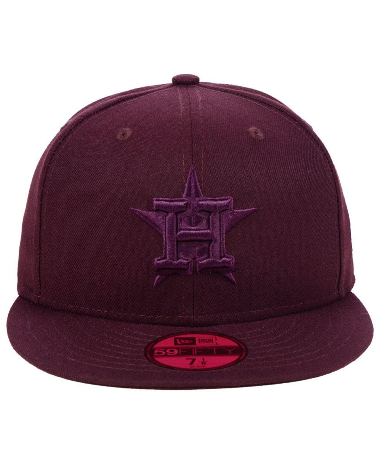 online store ad416 08a85 ... spain lyst ktz houston astros fall prism pack 59fifty fitted cap in  purple for men 92dca