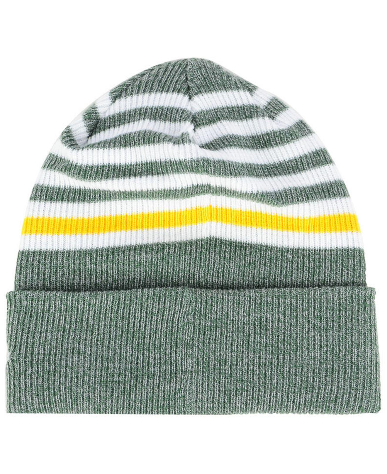 8d3574470 Lyst - KTZ Green Bay Packers Striped2 Cuff Knit Hat in Green for Men