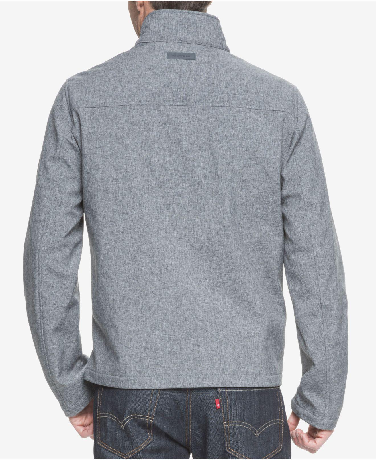 d4853bd5 Lyst - Tommy Hilfiger Big & Tall Classic Softshell Jacket in Gray for Men