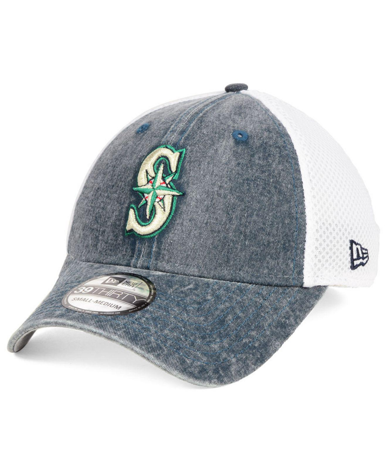 low priced 03b73 5acc6 ... where can i buy ktz. mens blue seattle mariners hooge neo 39thirty cap  0ca13 5cb8e