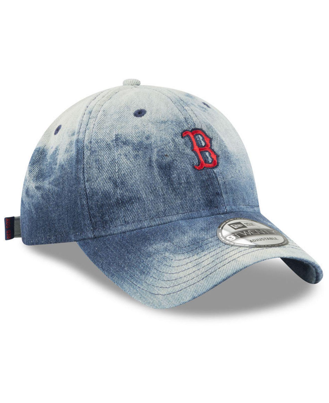 new styles a25a1 6fc44 ... new era 9twenty mlb rugged canvas adjustable hat 27eda d8845  cheapest  lyst ktz boston red sox denim wash out 9twenty cap in blue for men a06fd