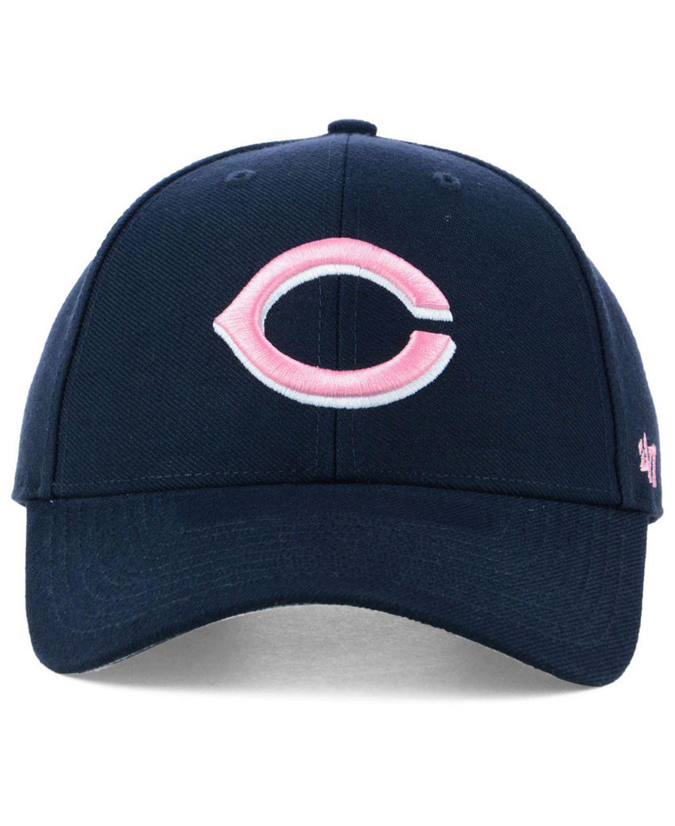 new product 8f5e6 34a96 ... usa lyst 47 brand cincinnati reds navy pink mvp cap in blue for men  4272e 07a89