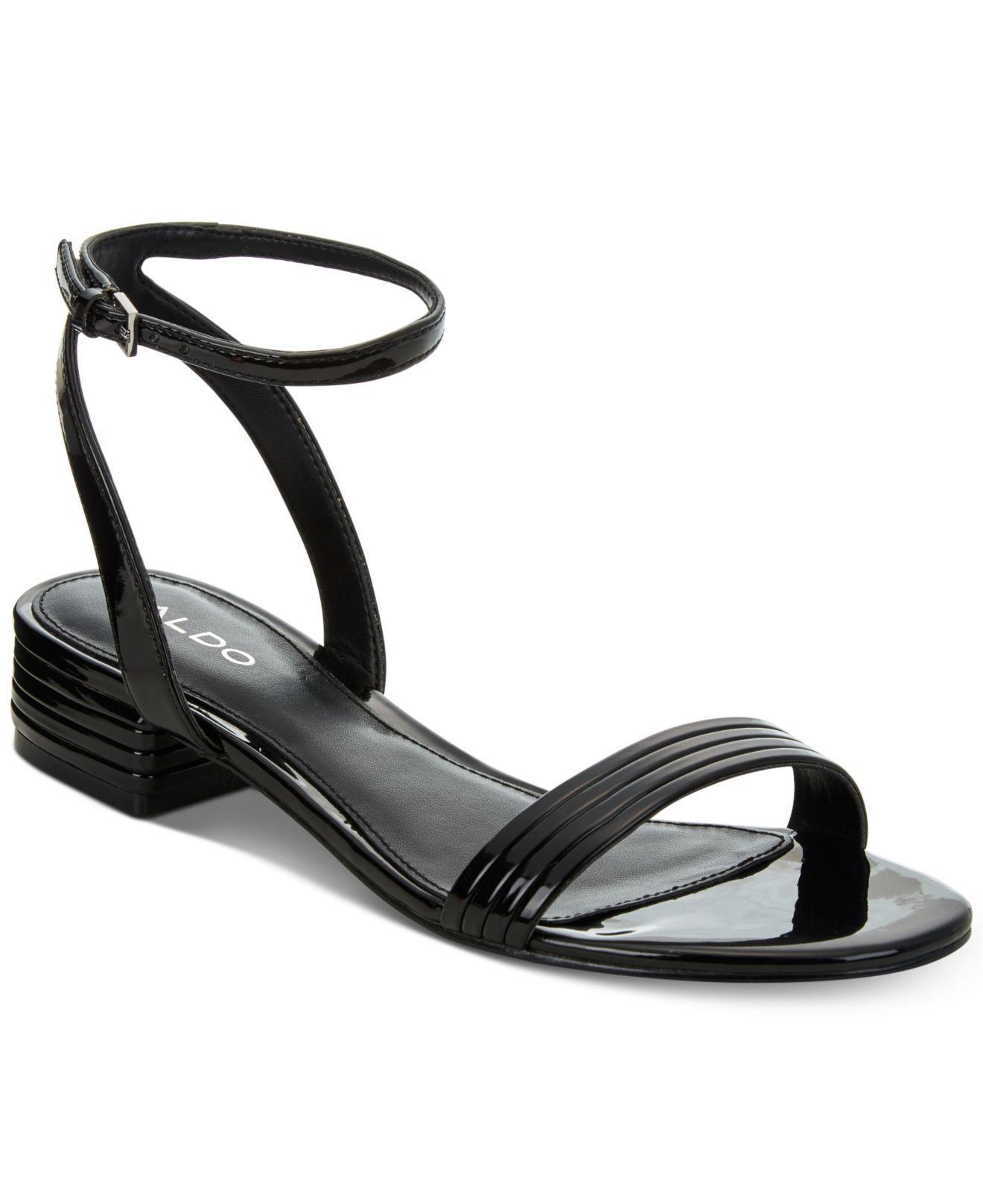 cd9328c10c8a Lyst - ALDO Izzie Metallic Sandals in Black