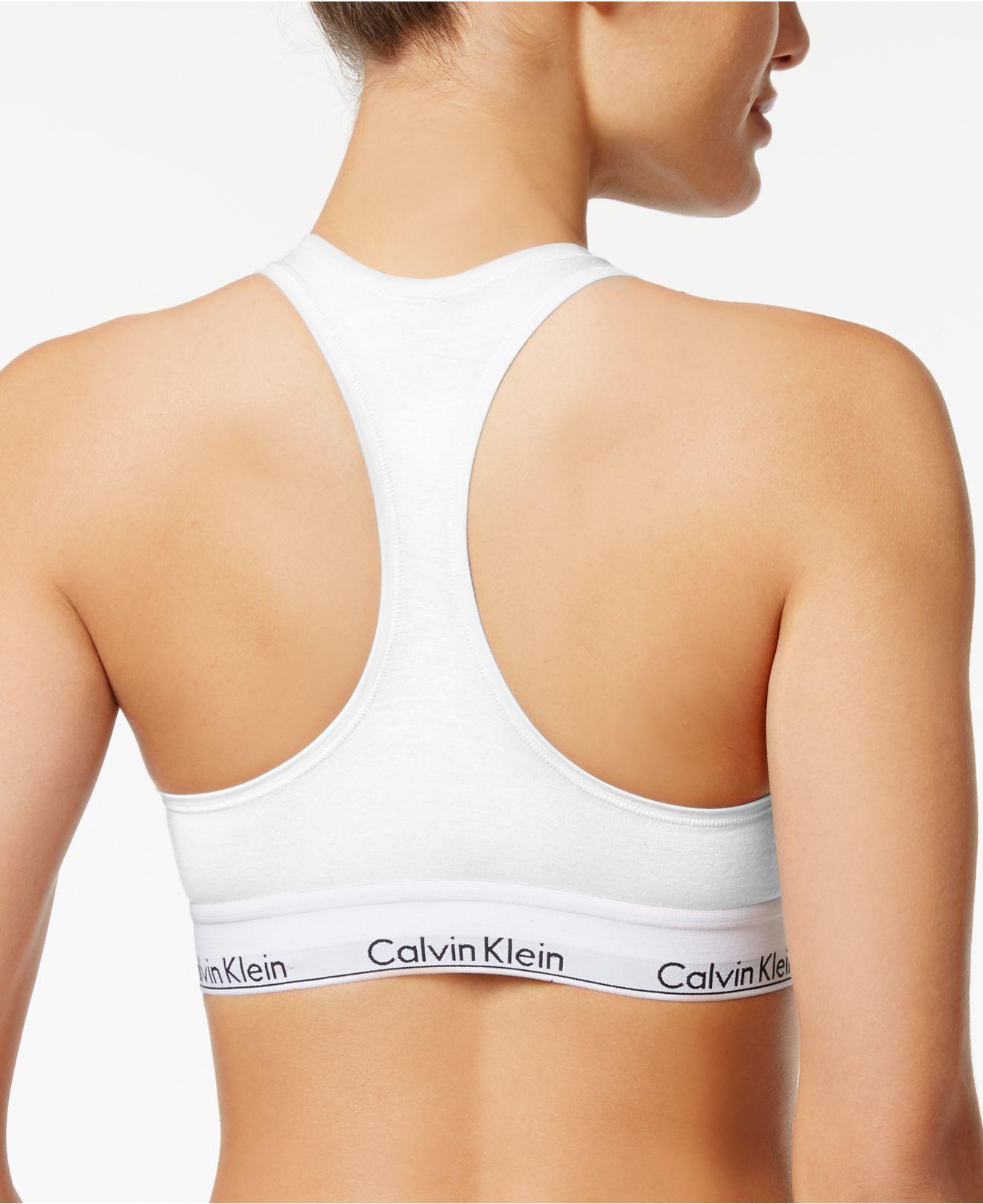 4f5461862f4d0 Lyst - Calvin Klein Modern Cotton Bralette in White - Save 63%