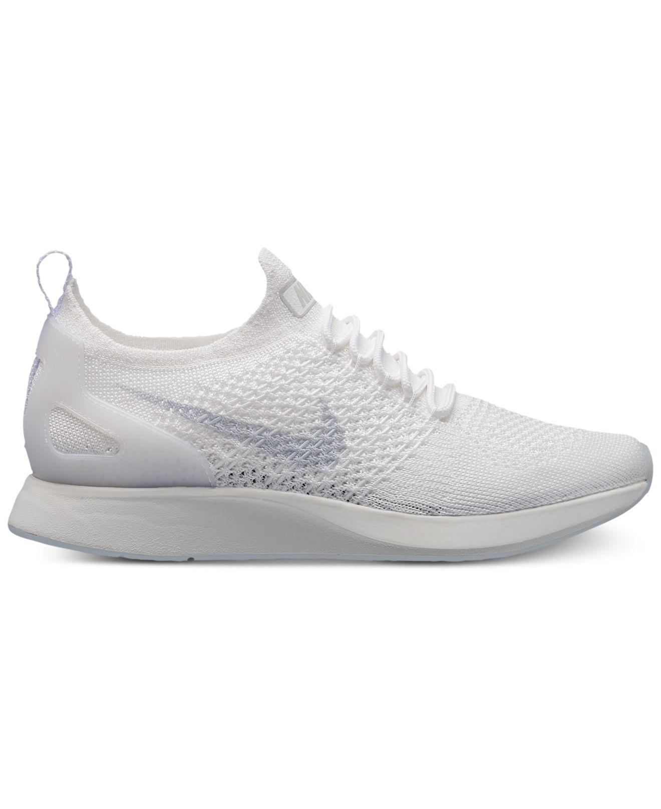Nike. Women's White Air Zoom Mariah Flyknit Racer Casual Sneakers From Finish  Line