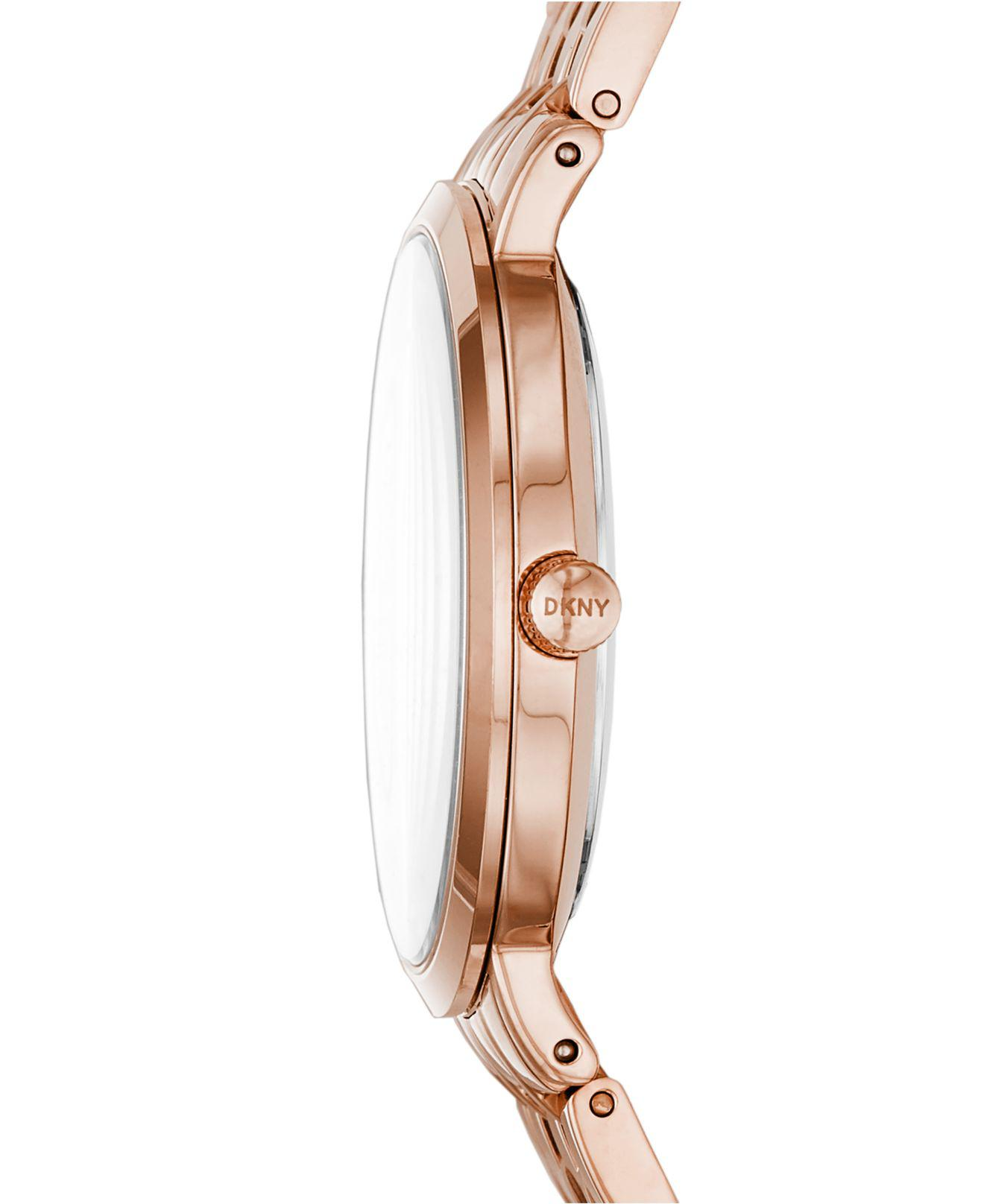 Lyst - Dkny Minetta Rose Gold-tone Stainless Steel Bracelet Watch 36mm  Ny2504 in Metallic - Save 52.19298245614035% 1080ef00e5