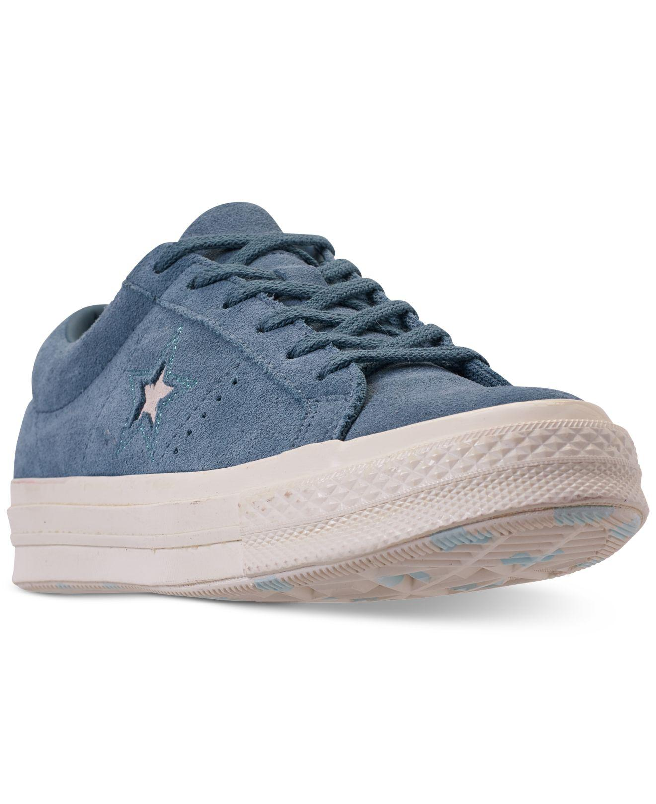 b62193ecbd5119 Converse. Blue Unisex Chuck Taylor One Star Low Casual Sneakers From Finish  Line