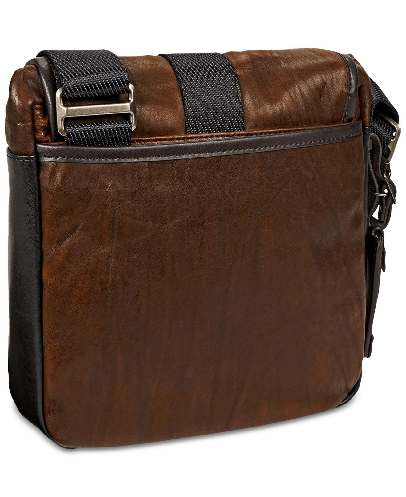 d8c4098813f8 Tumi - Brown Alpha Bravo - Barton Leather Crossbody Bag for Men - Lyst.  View fullscreen