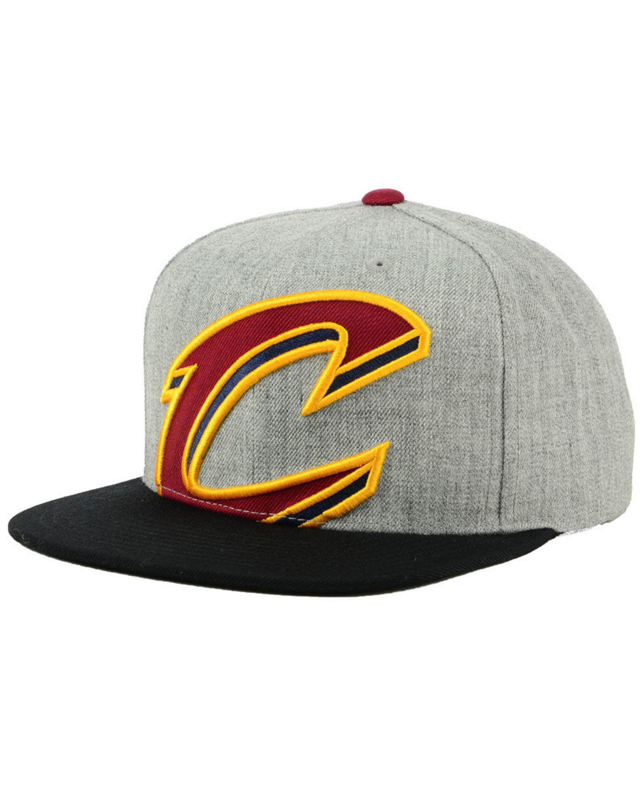 5a53dc2c504 Lyst - Mitchell   Ness Cleveland Cavaliers Cropped Heather Snapback ...
