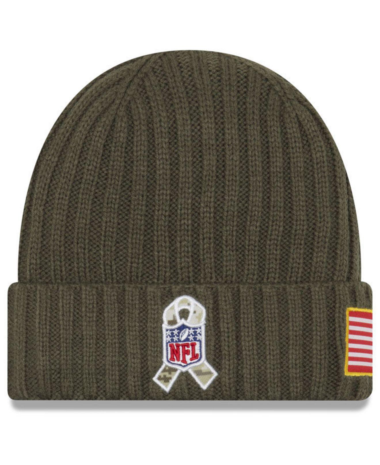 fe4f7bd9bbe Lyst - Ktz Salute To Service Cuff Knit Hat in Green for Men