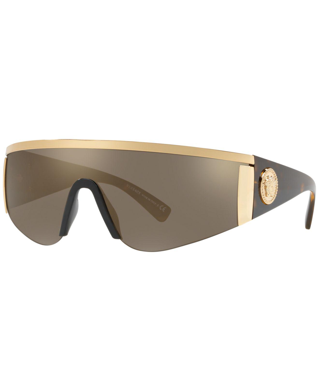 c8a5e29c6ba7 Lyst - Versace Ve2197 Shield Sunglasses in Brown for Men